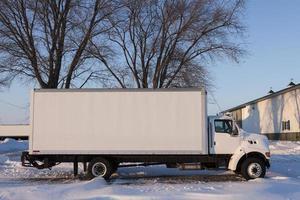 camion blanc photo