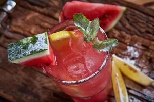 limonade maison à la pastèque