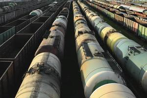 train, train de marchandises industriel photo