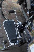pedana di motocicletta photo