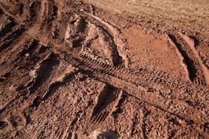 texture de pistes de vélo de boue photo