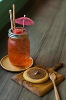 glace à la pastèque et dessert