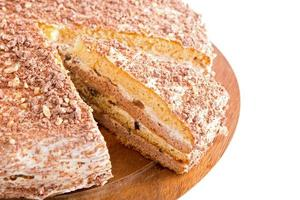 gâteau à la crème sure aux pruneaux photo