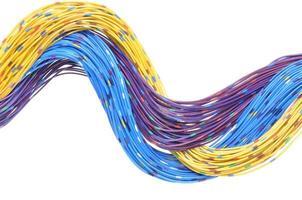 câbles de réseau de télécommunication photo