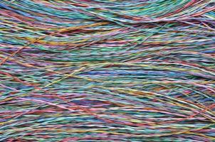câbles et fils de télécommunication colorés photo
