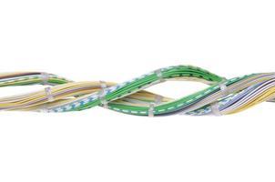 câbles réseau de télécommunication photo