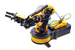 bras robotique noir et jaune photo