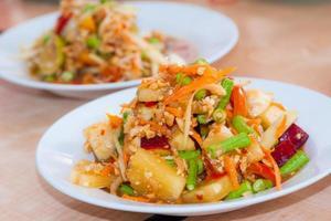 salade de papaye et fruite épicée