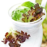 salade de laitue dans une essoreuse photo