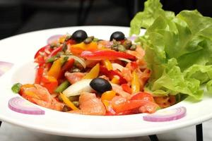 salade de saumon mixte