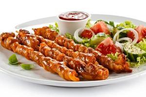 kebab - viande grillée et légumes