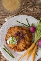 crêpes de pommes de terre pour hannukah: latkes photo