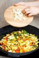 cuisson des haricots jaunes photo
