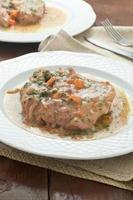 os de moelle, coupe de veau utilisée dans la cuisine italienne photo