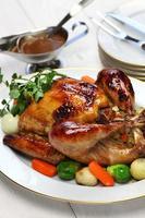 dinde rôtie maison, dîner de noël de Thanksgiving