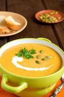 soupe à la crème de potiron photo