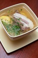 soupe à la viande d'agneau