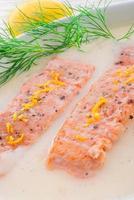 saumon grillé à l'aneth
