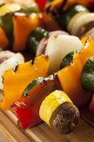 shish kebab aux légumes grillés bio