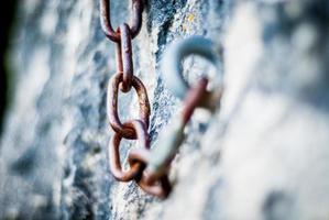 chaîne, escalade, rocher photo