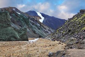 le rocher et le ruisseau photo