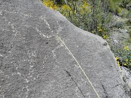 pétroglyphes dans les montagnes tortolita photo