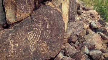 pétroglyphes amérindiens photo