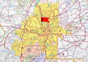 atlanta sur la carte photo