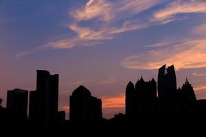 Horizon d'Atlanta du lac Meer du parc Piémont. photo