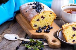 gâteau aux bleuets photo