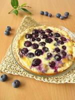 tarte aux myrtilles photo