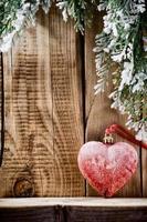 coeur de Noël. photo