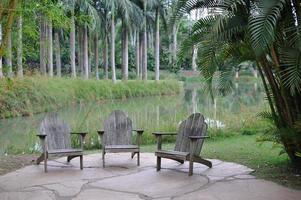 coin salon dans un parc brésilien photo