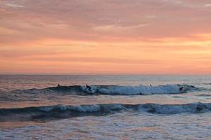 coucher de soleil été plage newport