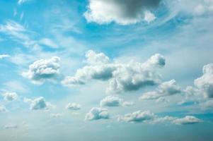 ciel nuageux d'été