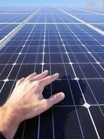 toit de cellules solaires photo