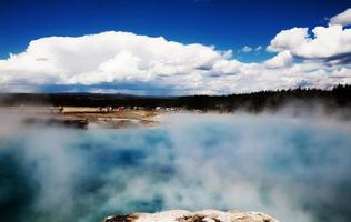 sources chaudes thermales de yellowstone photo