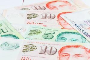 note de dollars singapour photo