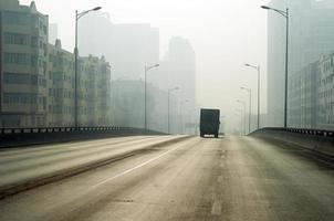 brume dans la ville photo