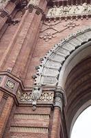 extérieur de barcelone - arc de triomphe photo