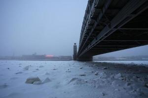 peter le grand pont en hiver photo