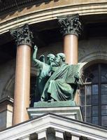 détails architecturaux de la cathédrale saint isaac à st. Pétersbourg. Russie photo