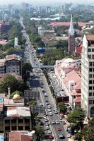 vue de dessus de la ville de yangon, myanmar. photo