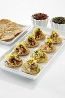 sevpuri, chat food, inde photo