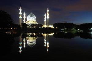 mosquée du sultan salahuddin abdul aziz shah - la «mosquée bleue» photo