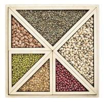 Résumé de haricots et lentilles photo