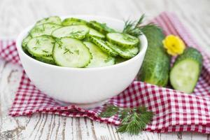 salade de concombre photo