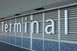 signe de terminal de passagers photo