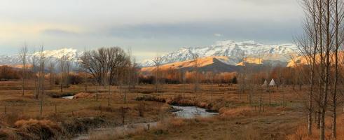 paysage de fin d'automne. photo