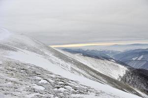 beau paysage d'hiver photo